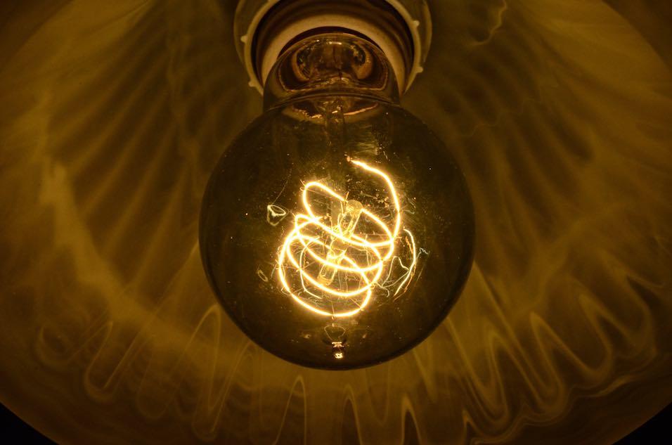 Close up of Antique Edison Light Bulb
